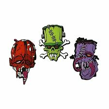 Kreepsville 666 Toxic Toons Ugly Heads Halloween Scary Punk Pin Badge Set BSTTUH