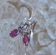 Like ღ♥ Diamant Ring in aus 14kt 585 Gold mit Brillant Rubine Rubin Ruby Diamond