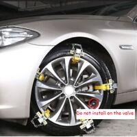 1x Cadenas de acero antideslizantes Auto Cinturón Nieve Mud Tire Clip-on cadena