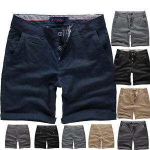 Herren Chino Shorts Kurze Bermuda Hose mit Stretch Regular Fit 7013