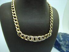 Diamant Kette 585 Gold 45 cm Halskette 14 Karat Steinkette Goldkette Collier