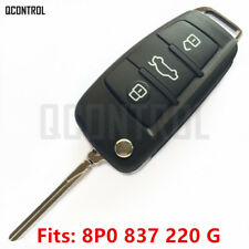 Remote Key  fob for AUDI A3 S3 A4 S4 TT 8P0 837 220G HU66 Blade 5FA009272-51
