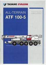 Tadano Faun ATF 100-5 Prospekt D GB F E 2002 Autokran mobile crane grue brochure
