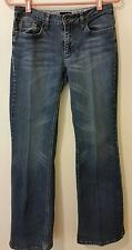 Ana Jean Women Modern Boot Cut Distress Size 4 Cotton Blue Denim 4 Pocket Jeans