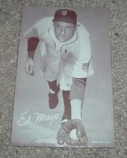 Vintage c1960s  ED MAYO Exhibit Baseball Card Detroit Tigers Made in USA
