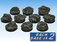 25mm Resin Bases (20) Round Slate, Large Warhammer 40k