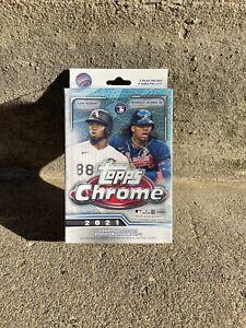 (2) Topps Chrome 2021 Baseball Hanger Box - 5 Packs (10 PACKS TOTAL)