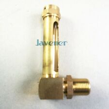 """3/8"""" BSP 100mm Lube Devices Elbow Brass Oil Level Gauge Sight Glass For Lathes"""