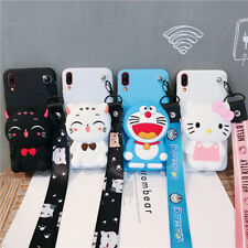 For Samsung New Hot Cute 3D Toy Cartoon Wallet Purse Lanyard Silicone Phone Case
