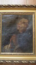 Tableau ancien XVIIe Saint François d'Assise 1 Vanitas école espagnole B.Roman ?