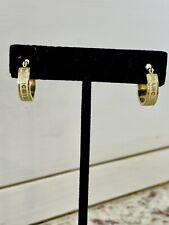 Marc By Marc Jacobs Gold Tone Hoop Earrings