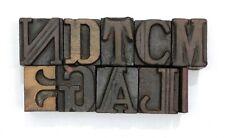 Letterpress Letter Wood Type Printers Block Lot Of 10 Typography Eb 115