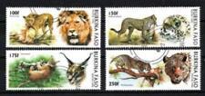 Burkina Faso 1996 Grandes felinos (86) Yvert n° 999 à 1002 matasellado usados