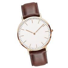 Women Men Casual Luxury Quartz Analog Watch Gold Leather Band Wrist Watches GA