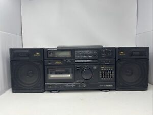 Panasonic RX-DS620 Boombox with detachable speakers. TESTED AND WORKING
