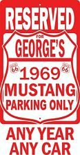 """Route 66 Ford Mustang Personalize Reserved Parking Garage Sign Novelty 12""""X18"""""""