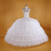 White 7-HOOP Wedding Bridal Dress Accessory Prom Petticoats Underskirt Crinoline
