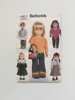 "Butterick 6855 Doll Clothes Pattern fits 18"" American Girl Julie Poncho Parka UC"