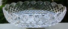 Waterford Master Cutter Hand Signed Giftware Oval Cut Crystal Bowl