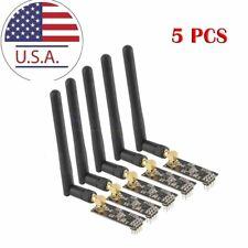 5PCS antenna wireless transceiver NRF24L01+PA+LNA SMA 2.4Gcommunication module