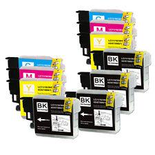10 PK Ink Jet Cartridges Combo for Brother LC61 MFC J265w 270w J410w J415w J615