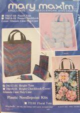 Vintage Mary Maxim Tote Bag Needlepoint Kit Plastic Canvas New