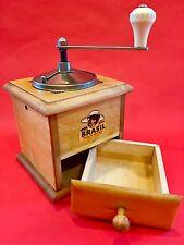 PRISTINE! Vintage European Ahner Vienna Austria BRASIL Wood Coffee Mill/Grinder