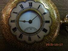 Russische Gold Taschen-Uhr 750er Rotgold/Emaille M&F intakt