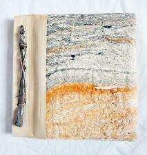 Piccolo a mano foto album tree-bark TROPICALE & FOGLIA Copertura / Carta fatti a mano NUOVO