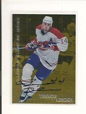 1999-00 Be A Player BAP Millenium Signature Series GOLD #129 Trevor Linden/50