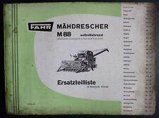Fahr Mähdrescher M88 Ersatzteilliste