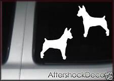 Rat Terrier Dog Sticker Decal Pair
