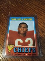 1971 Topps # 114 Willie Lanier RC Linebacker Kansas City Chiefs