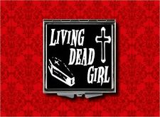 LIVING DEAD GIRL ZOMBIE COFFIN CROSS GOTH MAKEUP POCKET COMPACT MIRROR