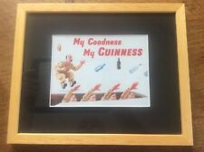 Wooden Framed Military Army GUINNESS Advertising Advert for Man Cave Bar Pub