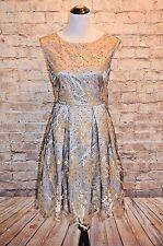 Modcloth Raise Glass to Classy Dress 6 NWT $200 dot embroidery no belt Eliza J
