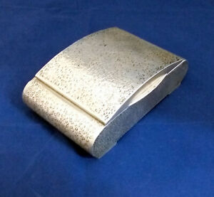 Antique ART DECO HAMMERED Hungarian Silver Box