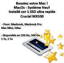MacOs installé sur SSD Crucial MX500 pour Macbook, Macbook Pro, iMac, Mac Mini