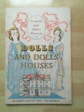 DOLLS AND DOLLS HOUSES - Victoria And Albert Museum Booklet 1950 ~ Vintage