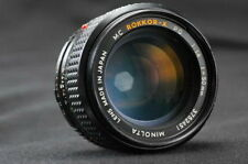 Minolta MC Rokkor-X PG 50mm F1.4 MD Lens. Great for Mirrorless Digital SLR.