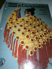 Vintage Spinnerin Stoles and Shawls Crochet Knit Pattern Book 8 Designs Vol 203