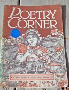 POETRY CORNER. BBC RADIO FOR SCHOOLS.  TEACHERS NOTES AUTUMN 1986