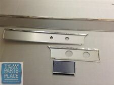 65-66 Chevrolet Impala Dash Fascia Without A/C 4 Piece - Brushed Aluminum B6500