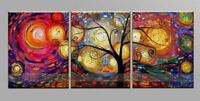 CHOP189 3pcs abstract wall art handpainted landscape oil painting  on canvas