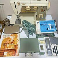 Singer Golden Touch & Sew Model 750 Deluxe Zig Zag + Sears Kenmore Buttonholer
