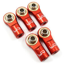 Yeah Racing Aluminum M3 Rod Ends Red EP 1:10 RC Cars Drift On Road #YA-0550RD