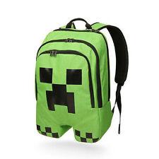 Waterproof Children School Minecraft Backpack Book Storage Creeper Student Bag