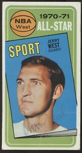 1970-71 Topps #107 Jerry West All-Star Lakers Auto? READ CONDITION