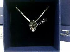 Swarovski Taddeo Skull Pendant, Stainless Steel Chain Men's Crystal MIB 1180839