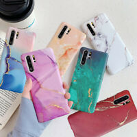 For Samsung Galaxy S20 Note10 Plus S10 S9 Matte Color Marble IMD Soft Case Cover